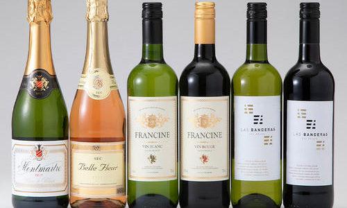 高島屋のワインの福袋『気軽に家飲み赤白ロゼスパークリング6本セット 税込3,300円』