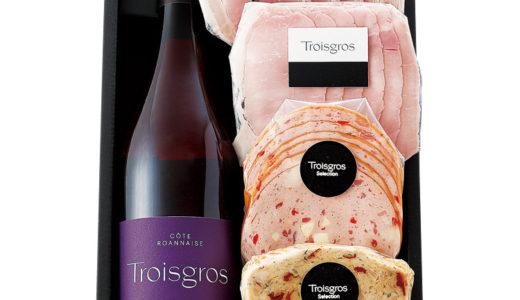小田急のお中元 送料無料『トロワグロのワイン&ハムセット贈り物』