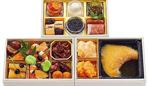 三越伊勢丹の人気おせち XEX 和洋中三段重、美食良菜 個食おせち二客セット